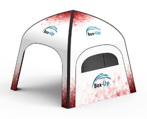 aufblasbares Event und Marketing Zelt Box-Up Seitenwand mit Fenster Klassik