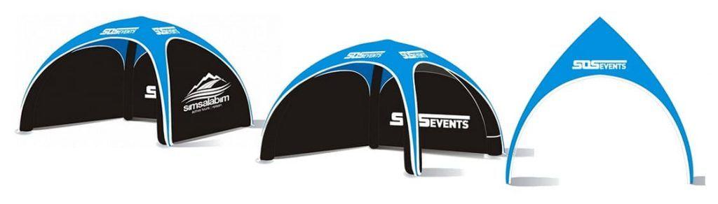 aufblasbares Zelt 4x4 Meter Eventzelt Messezelt box-up